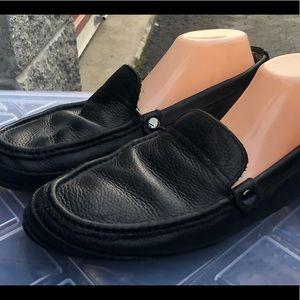 L.B Evans 4733 Black Leather Boat Shoes Size 13M